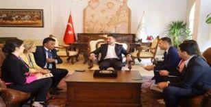 Özbekistan heyeti Nevşehir Belediyesini ziyaret etti