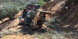 Tarım işçilerini taşıyan araç uçuruma yuvarlandı; 1 ölü, 5 yaralı