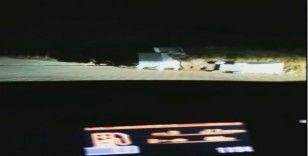 (Özel) Uludağ'da aç kalan ayı çöpleri karıştırırken görüntülendi.