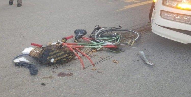 TIR'ın altında kalan bisiklet sürücüsü ağır yaralandı