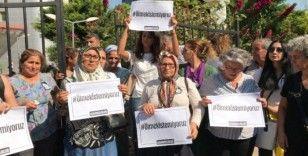 Mersinli kadınlardan 'Kübra Aşkın' cinayeti protestosu