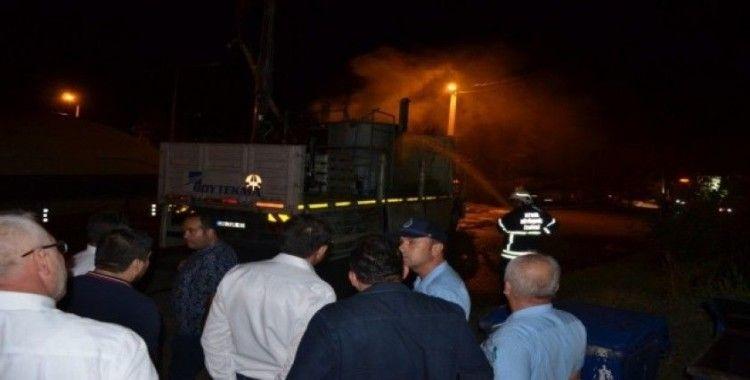 Nazilli'de boya yüklü kamyonda patlama meydana geldi, 5 kişi yaralandı