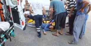Motosiklet ile minibüs çarpıştı: 1 yaralı