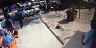 Polis saldırganı silahla ayağından vurup yakaladı