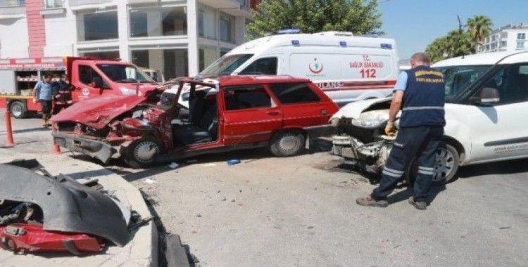 Mersin'de trafik kazası: 1'i ağır 5 yaralı