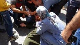 HDP il binası önünde eylem yaparken babasının ölüm haberini aldı