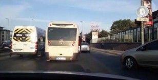 (Özel) Minibüsteki tehlikeli yolculuk kamerada