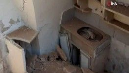 İdlib'deki yıkım görüntülendi
