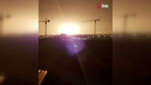 Girne'de askeri bölge içindeki cephanelikte patlama