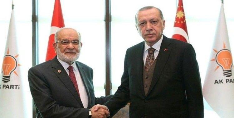 Başkan Erdoğan, Temel Karamollaoğlu ile görüştü