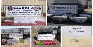 Mardin'de 12 bin 74 paket gümrük kaçağı sigara ele geçirildi