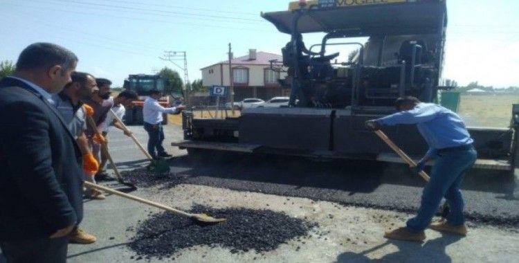 Erciş Belediyesinden asfaltlama çalışması