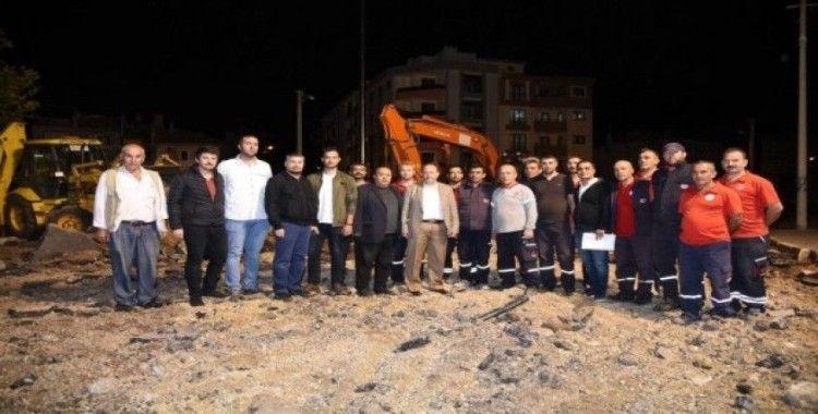 Karesi Belediyesi Şehitlik Kavşağını düzenleniyor