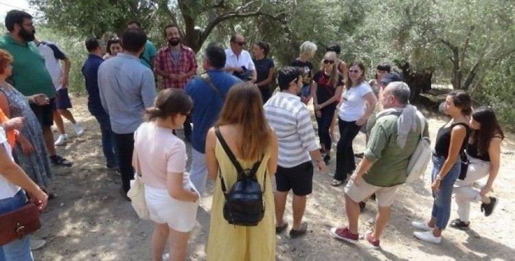 Yabancı üniversite öğrencileri Antandros'u gezdi
