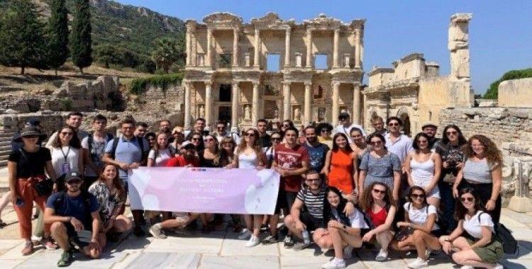 AB Antik Tarihe Genç Bakış Ekibi, Aydın'daki ören yerlerini öğrendi