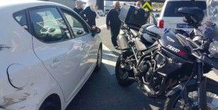 (Özel) TEM Otoyolu'nda kaza: 1 yaralı