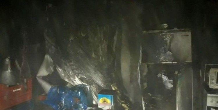 Samandağ'da korkutan ev yangını