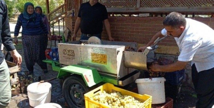 Üzüm diyarında pekmez yapımı başladı