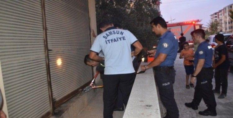 Yaralı kedi için polis ve itfaiye seferber oldu