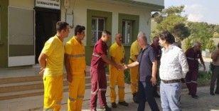 Bölge Müdürü Koç yangın ekiplerini ziyaret etti
