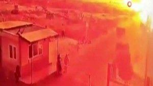 Çobanbey'deki patlama anı kamerada