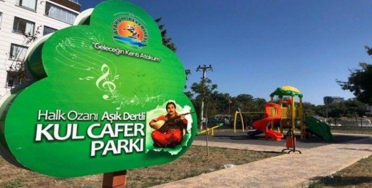 Halk Ozanı Aşık Dertli Kul Cafer'in adı parka verildi