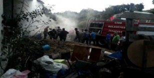 Kastamonu'da üç katlı binada yangın çıktı
