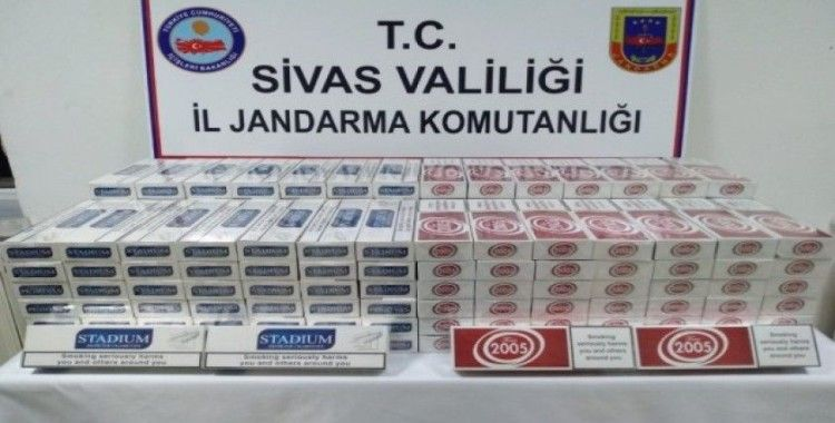 Sivas'ta 17 bin 670 paket kaçak sigara ele geçirildi