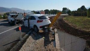 Sivas'ta otomobiller kafa kafaya çarpıştı