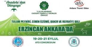Erzincan ürünleri Ankara'da görücüye çıkacak