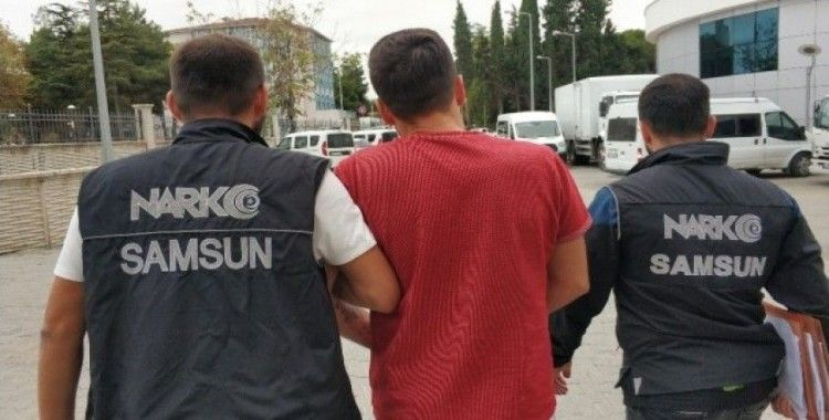 Otobüs terminalinde uyuşturucuyla yakalanan zanlı tutuklandı
