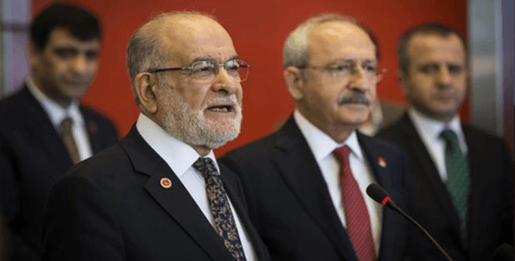 CHP ve Saadet Partisi başkanları bir araya geldi