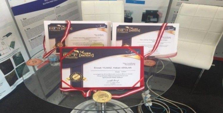 Buluş fuarında Düzce Üniversitesi 3 madalya kazanarak adından söz ettirdi