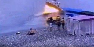 Rusya'da sürat teknesinde patlama