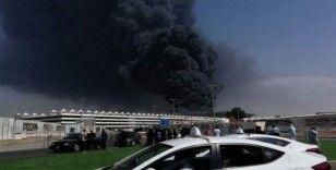 Cidde'de tren istasyonunda yangın