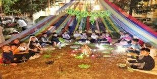 GKV'li minikler anaokulu çadır kampında