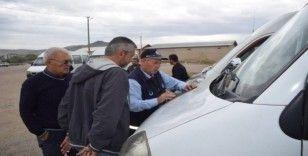 Sungurlu'da öğrenci servis araçları denetlendi