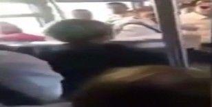 Metrobüsteki kavga cep telefonu kamerasında