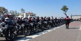 İstanbul'da motosikletli polis timlerinde 206 polis göreve başladı
