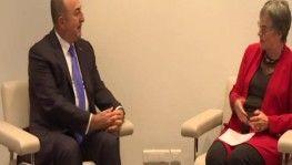 Bakan Çavuşoğlu, AKPM Başkanı Pasquier ile görüştü