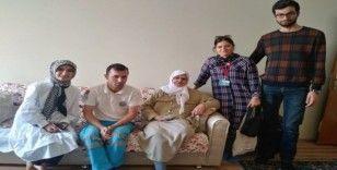 Sağlık personellerinden yaşlılara ziyaret