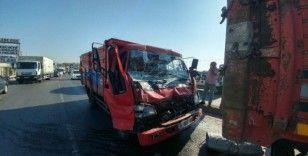Hadımköy'de trafik kazası:1 yaralı