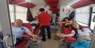 Alaçam'dan Kızılay'a kan desteği