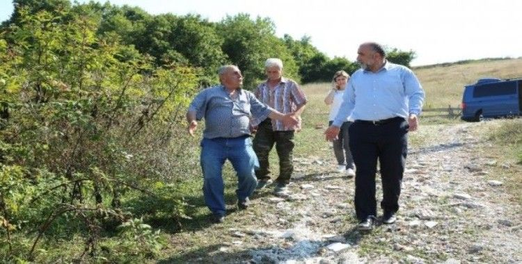 Canik'te kırsalın yol sorunu çözülüyor