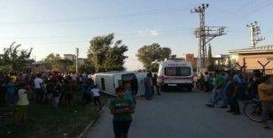 Okul servisiyle otomobil çarpıştı: 7 yaralı