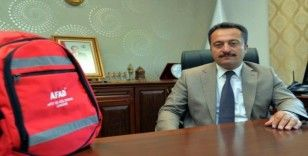 Tüm okullara 'afet çantası' dağıtıldı