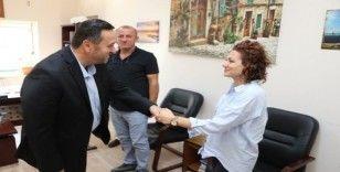 Başkan Yanmaz belediye personelini ziyaret etti