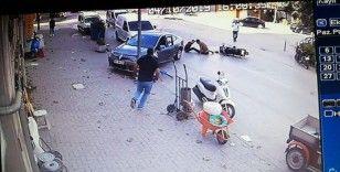 Dehşet veren kaza saniye saniye kamerada