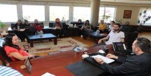 Mimarlık öğrencileri Başkan Yanmaz'ı ziyaret etti