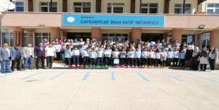 Çavdarhisar İmam Hatip Ortaokulu'na başarı belgesi